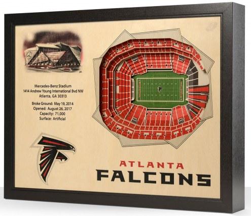 Atlanta Falcons 25-Layer StadiumViews 3D Wall Art