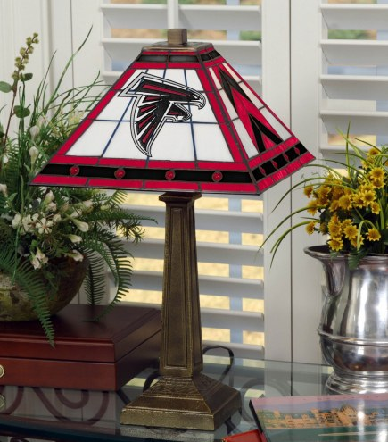 Atlanta Falcons Stained Glass Mission Table Lamp