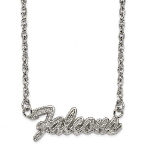 Atlanta Falcons Stainless Steel Script Necklace