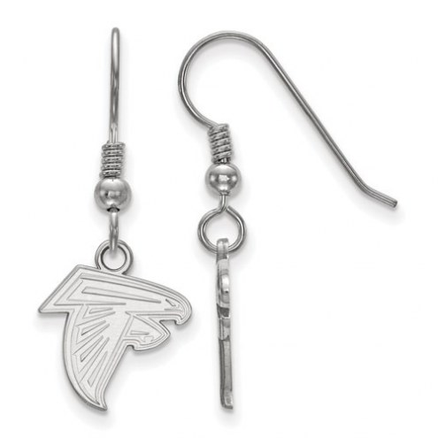 Atlanta Falcons Sterling Silver Extra Small Wire Dangle Earrings