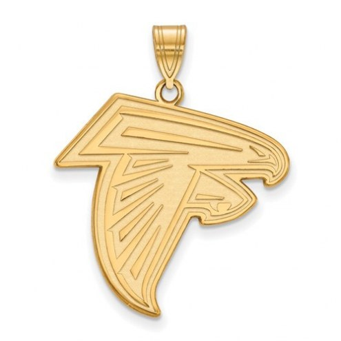 Atlanta Falcons Sterling Silver Gold Plated Large Pendant