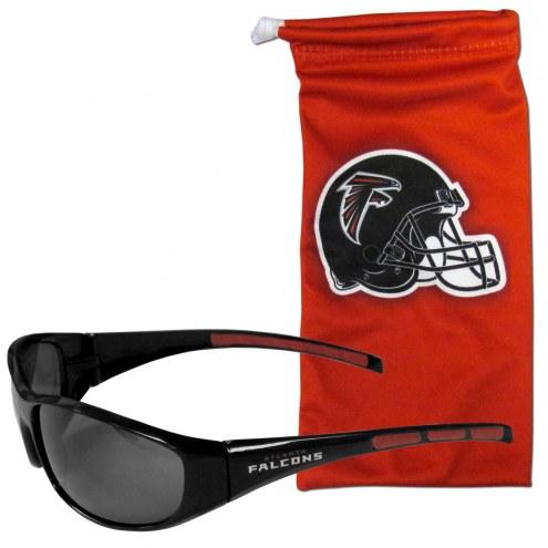 Atlanta Falcons Sunglasses and Bag Set