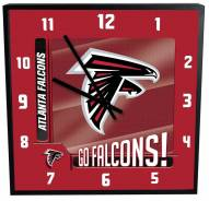 Atlanta Falcons Team Black Square Clock