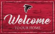 Atlanta Falcons Team Color Welcome Sign
