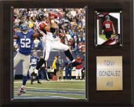 """Atlanta Falcons Tony Gonzalez 12 x 15"""" Player Plaque"""