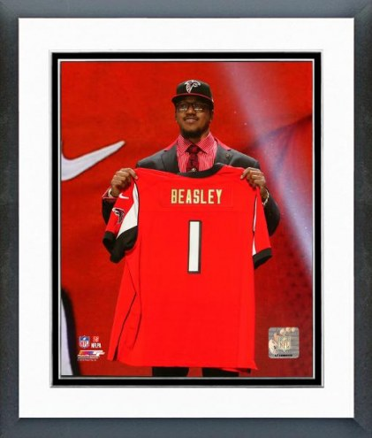 Atlanta Falcons Vic Beasley NFL Draft #8 Pick Framed Photo