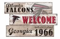 Atlanta Falcons Welcome 3 Plank Sign
