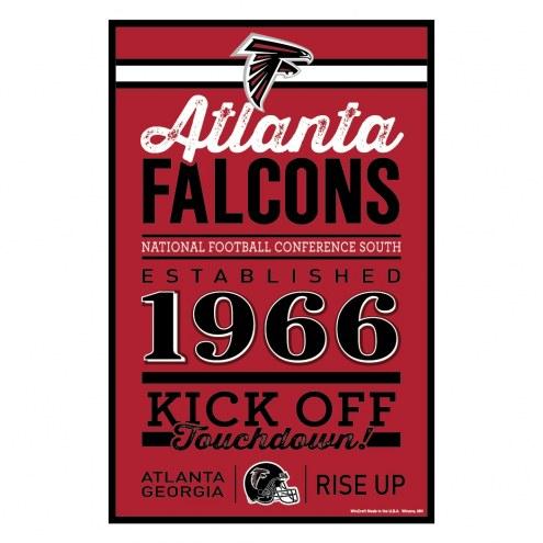 Atlanta Falcons Established Wood Sign