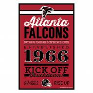Atlanta Falcons Established Wood Sign