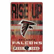 Atlanta Falcons Slogan Wood Sign