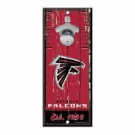 Atlanta Falcons Wood Bottle Opener