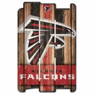 Atlanta Falcons Wood Fence Sign