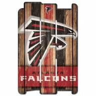 Atlanta Falcons Wood Fence Sign