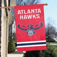 Atlanta Hawks Applique 2-Sided Banner Flag