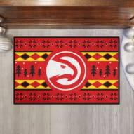 Atlanta Hawks Christmas Sweater Starter Rug