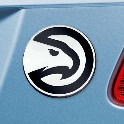 Atlanta Hawks Chrome Metal Car Emblem