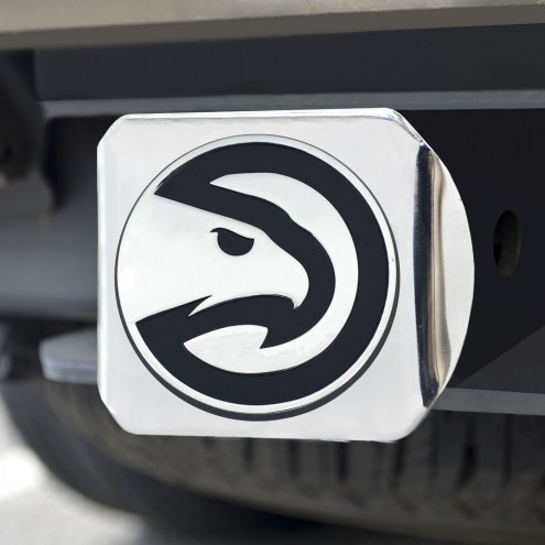 Atlanta Hawks Chrome Metal Hitch Cover