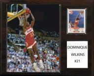 "Atlanta Hawks Dominique Wilkins 12"" x 15"" Player Plaque"