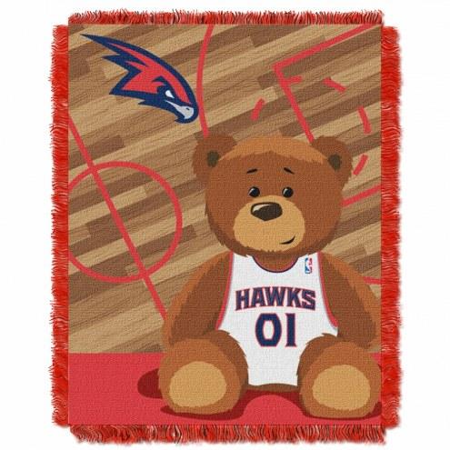 Atlanta Hawks Half Court Baby Blanket