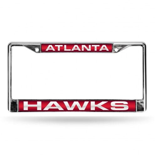 Atlanta Hawks Laser Chrome License Plate Frame