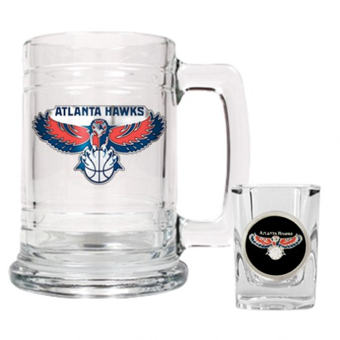 Atlanta Hawks NBA Boilermaker Set - Shot Glass & Tankard Mug