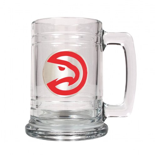 Atlanta Hawks NBA 2-Piece Glass Tankard Beer Mug Set