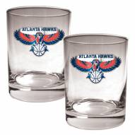Atlanta Hawks NBA 2-Piece 14 Oz. Rocks Glass Set