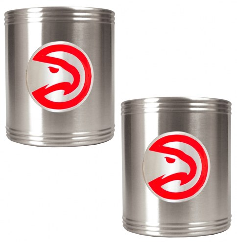 Atlanta Hawks NBA Stainless Steel Can Holder 2-Piece Set