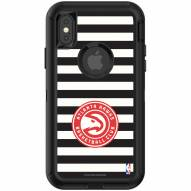 Atlanta Hawks OtterBox iPhone X/Xs Defender Stripes Case