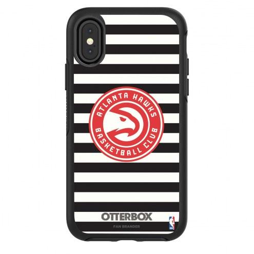 Atlanta Hawks OtterBox iPhone X/Xs Symmetry Stripes Case