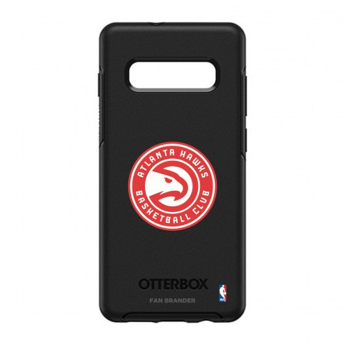 Atlanta Hawks OtterBox Samsung Galaxy S10+ Symmetry Black Case