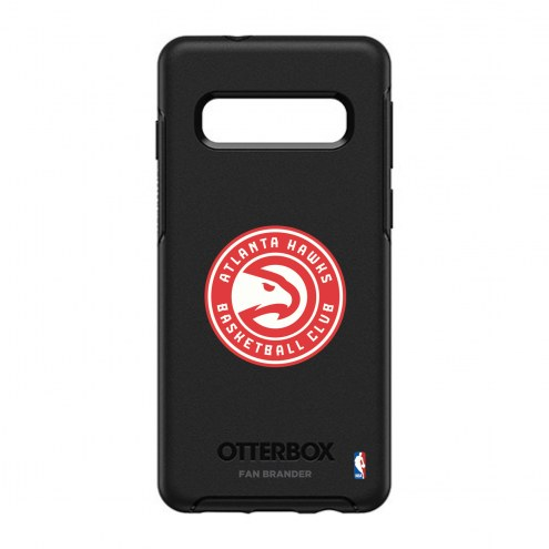 Atlanta Hawks OtterBox Samsung Galaxy S10 Symmetry Black Case