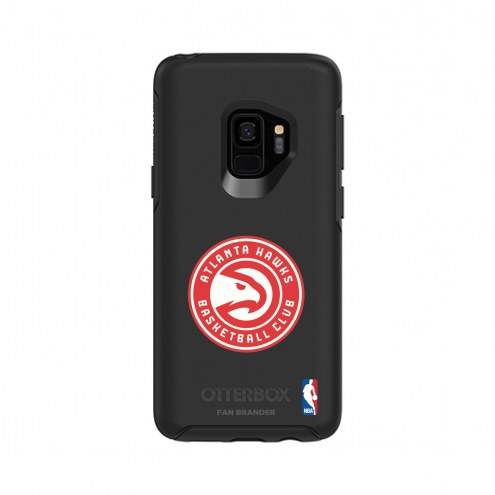 Atlanta Hawks OtterBox Samsung Galaxy S9 Symmetry Black Case
