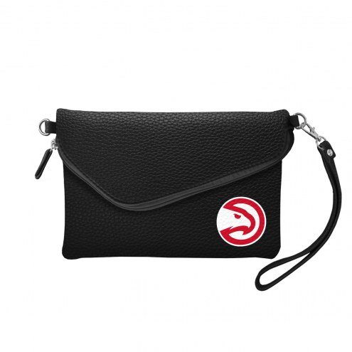 Atlanta Hawks Pebble Fold Over Purse
