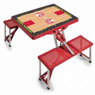 Atlanta Hawks Red Folding Picnic Table