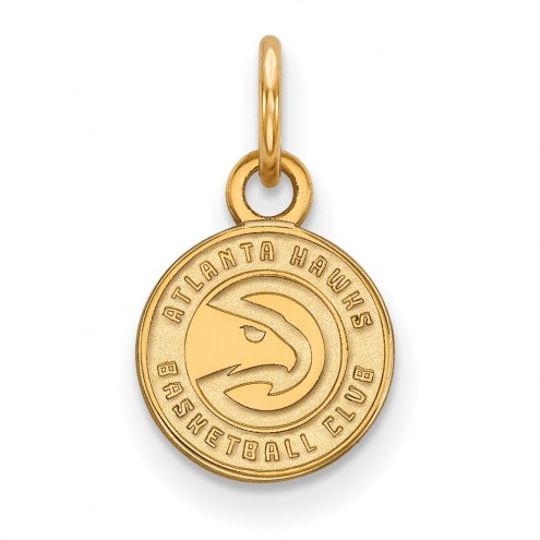Atlanta Hawks Sterling Silver Gold Plated Extra Small Pendant