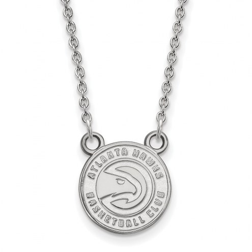 Atlanta Hawks Sterling Silver Small Pendant Necklace