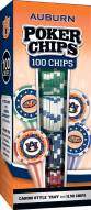 Auburn Tigers 100 Piece Poker Chips