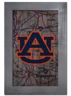 "Auburn Tigers 11"" x 19"" City Map Framed Sign"