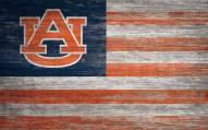 """Auburn Tigers 11"""" x 19"""" Distressed Flag Sign"""