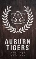 "Auburn Tigers 11"" x 19"" Laurel Wreath Sign"