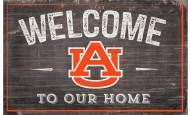 """Auburn Tigers 11"""" x 19"""" Welcome to Our Home Sign"""