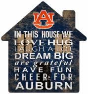 "Auburn Tigers 12"" House Sign"