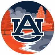 "Auburn Tigers 12"" Landscape Circle Sign"