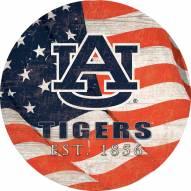 "Auburn Tigers 12"" Team Color Flag Circle Sign"