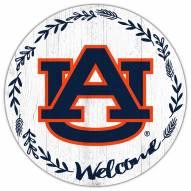 "Auburn Tigers 12"" Welcome Circle Sign"