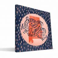 """Auburn Tigers 12"""" x 12"""" Born a Fan Canvas Print"""