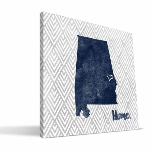 "Auburn Tigers 12"" x 12"" Home Canvas Print"