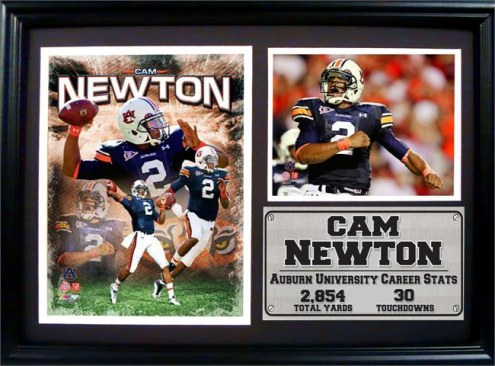 "Auburn Tigers 12"" x 18"" Cam Newton Photo Stat Frame"