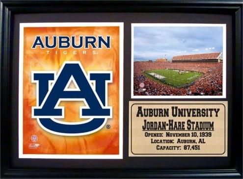 """Auburn Tigers 12"""" x 18"""" Photo Stat Frame"""